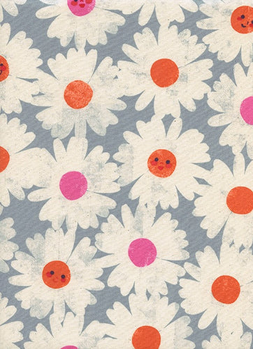 Cotton + Steel - Happy Garden Steel Blue - 0037-02 (Trinket collection)