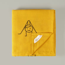 'Sun Salutation' organic muslin beach blanket/throw
