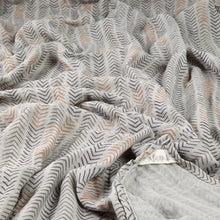 """Ziggy zaggy"" organic muslin beach blanket/throw"