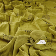 """Swirl"" organic muslin beach blanket/throw"