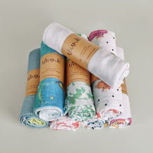 'Chat ou chien' organic muslin baby blanket