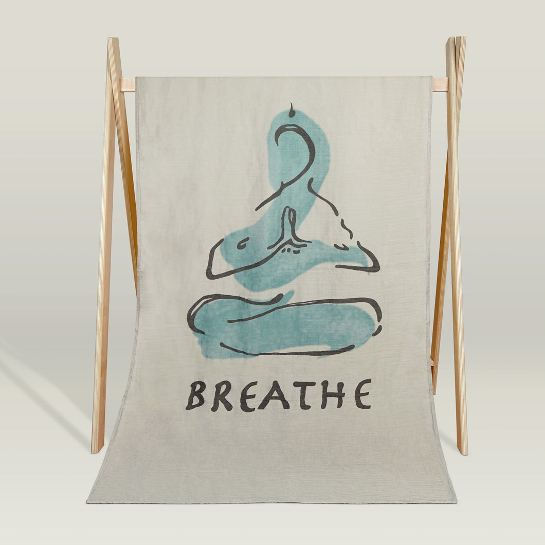 'Meditation' organic beach blanket/throw