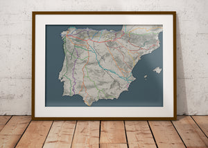 The Big Map of Caminos in Spain and Portugal