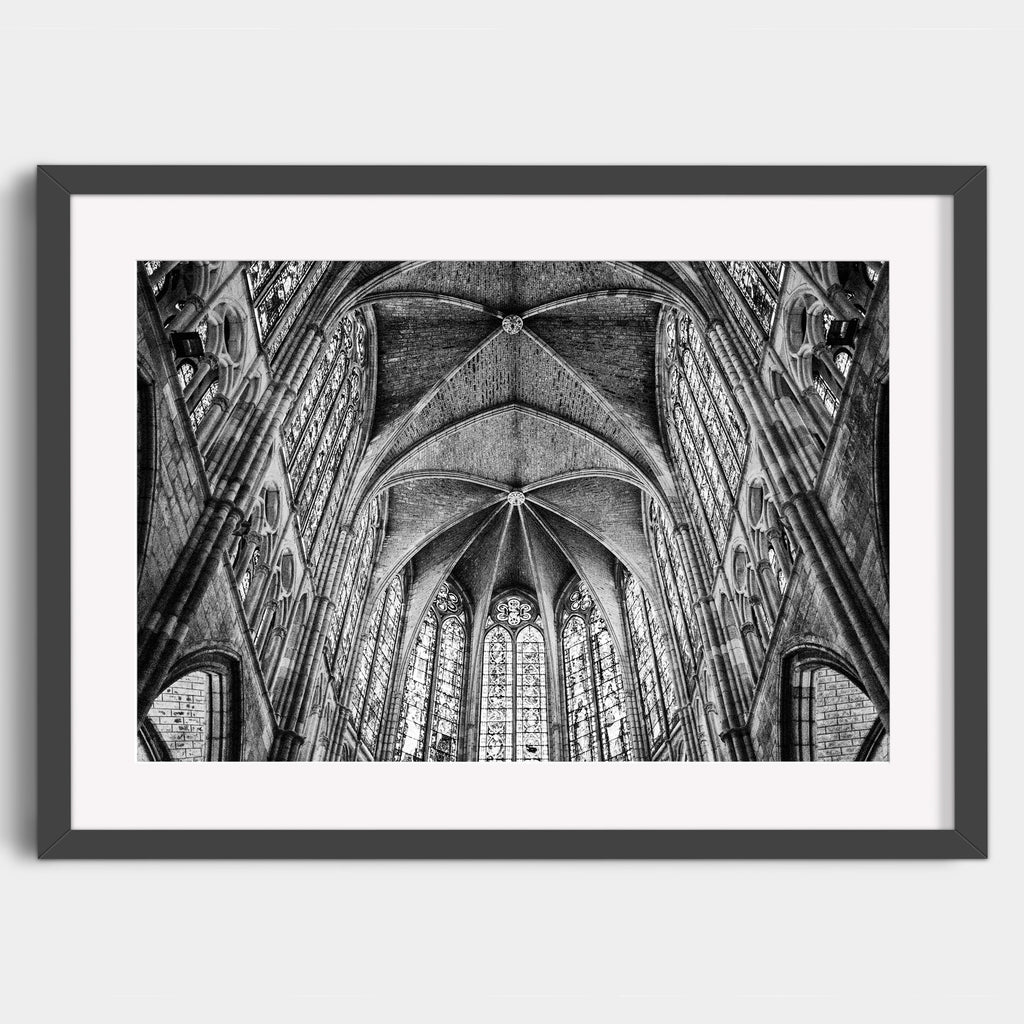 León Cathedral Interior - Fine Art Print