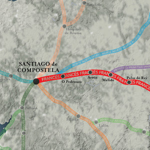 The Camino Francés Map