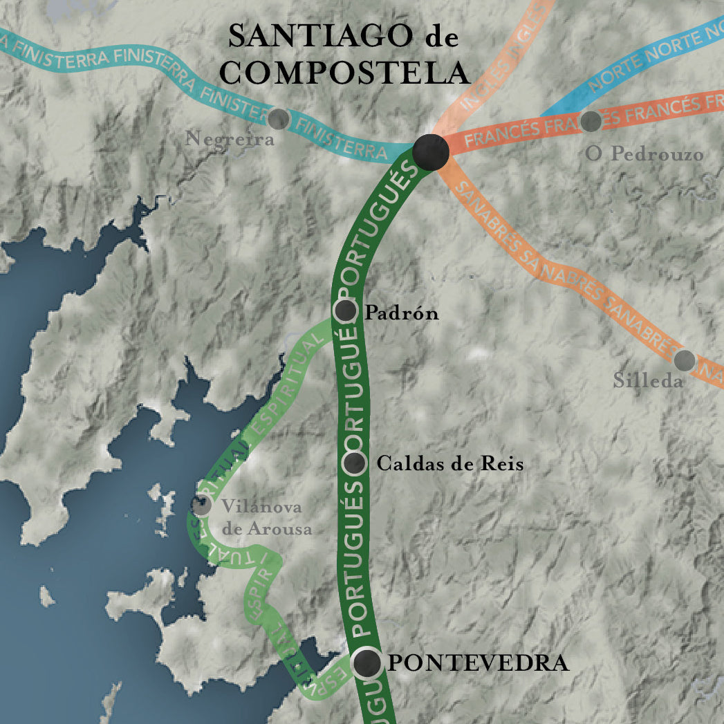 The Camino Portugués Map