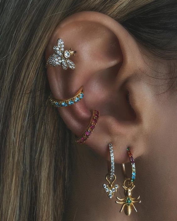 Rosalind Ear Cuff | Blue