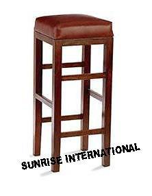 Artistic Wooden Bar Stool / Bar Chair with cushion !!- Furniture online: Buy wooden furniture for every home with best designs