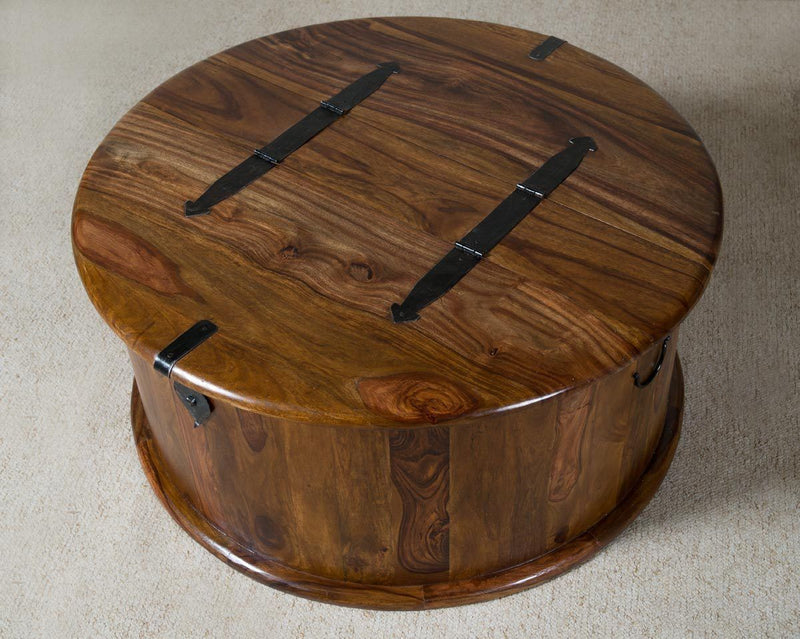 wooden coffee table, solid sheesham wood center table ...