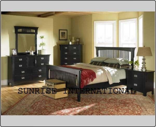 Bedroom furniture - Contemporary Wooden 7 pc King Size Bedroom set !!