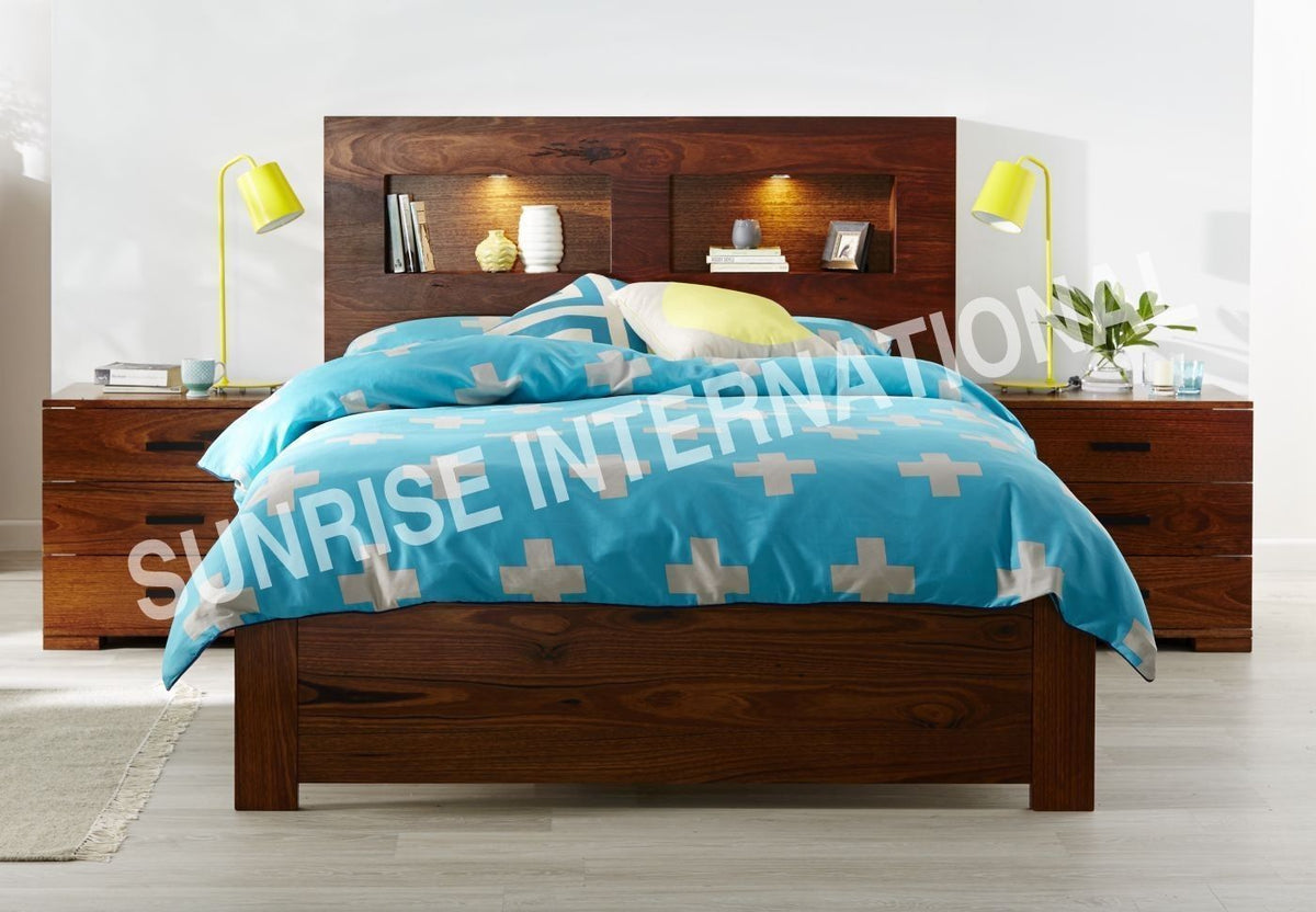 Picture of: Wooden Bed Designs Solid Wood Bed Sheesham Wood Storage Bed Online Furniture Online Buy Wooden Furniture For Every Home Sunrise International