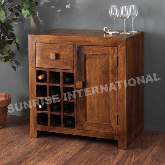 Contemporary Wooden Wine Bar Cabinet Rack Furniture Online Buy