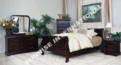 5 PC BEDROOM SET - French Style 1 KING/QUEEN BED , 2 BEDSIDES , 1 DRESSER, 1 MIRROR FRAME !- Furniture online: Buy wooden furniture for every home with best designs