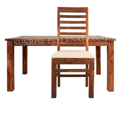 Custom order - Harley 6pc Wooden Dining Table 5ft Table + 4 chairs + 1 bench with cushion- Furniture online: Buy wooden furniture for every home with best designs