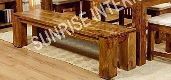 Custom order - Solid Sheesham Wood Dining table with Cushioned Chair & Bench furniture set- Furniture online: Buy wooden furniture for every home with best designs