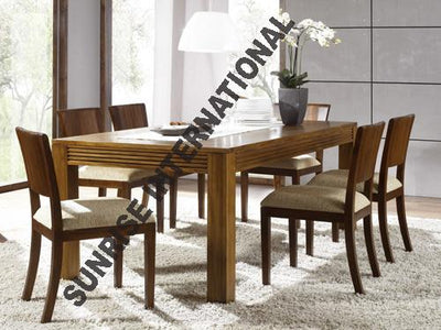 CUSTOM ORDER-  Tuscany Range - Wooden Wood Dining table with 4 Chair (DSET319) & 1 Bench set (6 pc set)