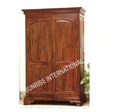 Custom order - Wooden 2 door Cupboard / Wardrobe 90x60x210H cms in light teak- Furniture online: Buy wooden furniture for every home with best designs