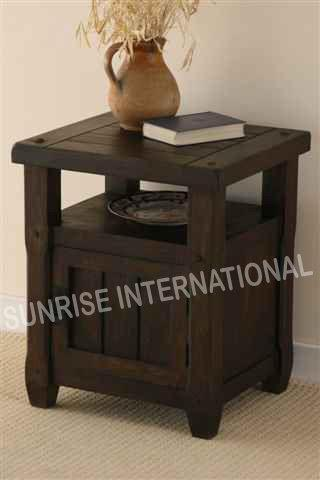 Dark Wood Bed side cabinet (Single door) !!- Furniture online: Buy wooden furniture for every home with best designs