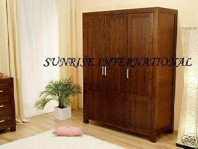 buy solid sheesham wood wooden wardrobe cupboard online with best designs in India at cheap price - www.thetimberguy.com