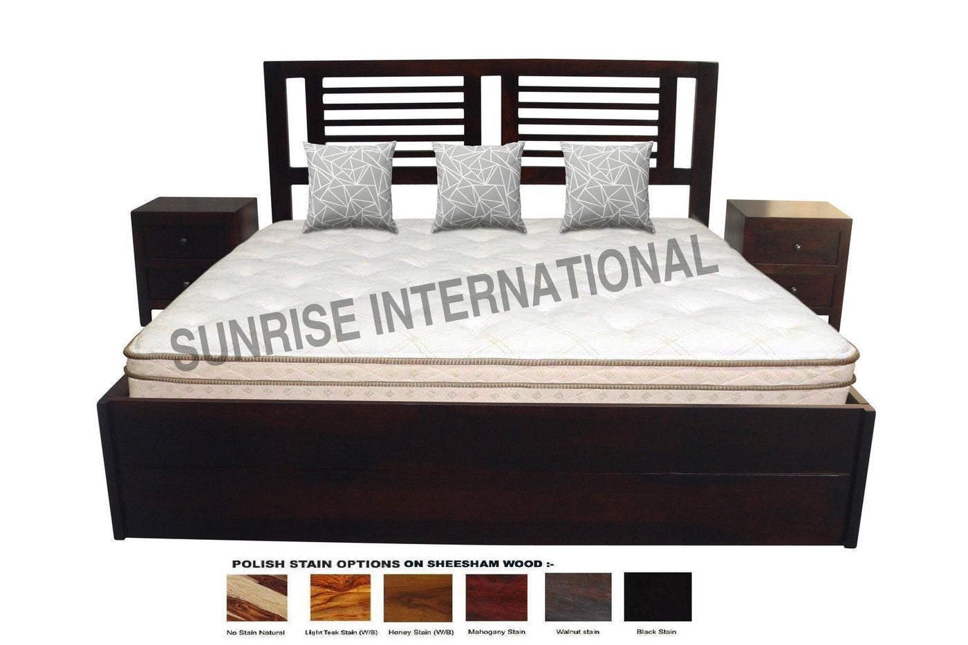 Picture of: Solid Wood Bed Wooden Bed Sheesham Wood Storage Bed Online In India Furniture Online Buy Wooden Furniture For Every Home Sunrise International