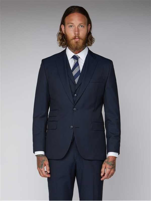 Gibson London Navy Twill Suit Jacket
