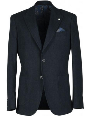 2BLIND2C Navy Stretch Blazer