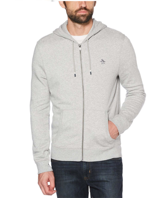 Original Penguin Grey Full Zip Sweat