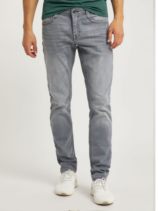 Mustang Grey Oregon Tapered Jeans