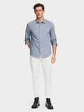 Scotch & Soda Blue Regular Fit Dress Shirt