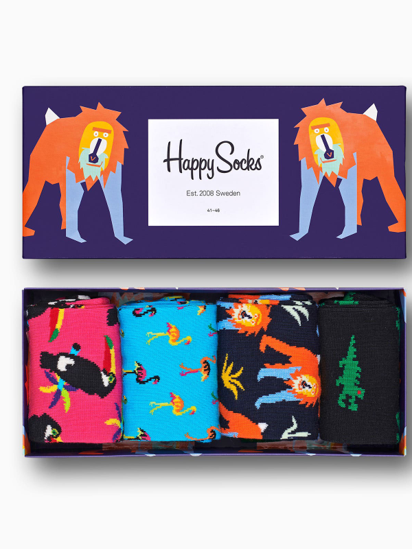 Happy Socks 4 Pack Animal Pack