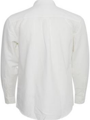 Tailored & Originals Off White Linen Mix Shirt