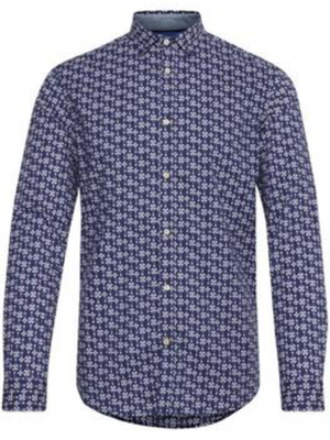 Tailored & Originals Blue Print Shirt