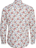 Tailored & Originals White Floral Print Shirt