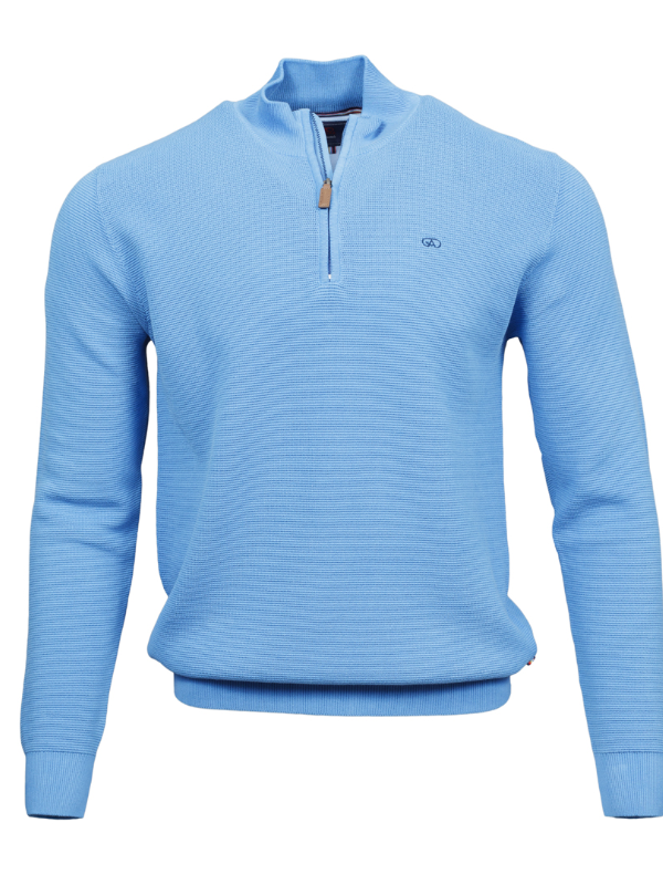 Andre Paris Blue 1/4 Zip Knit