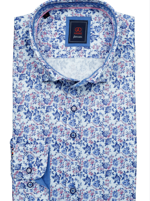 Andre Jeanswear Gill Blue Print Shirt