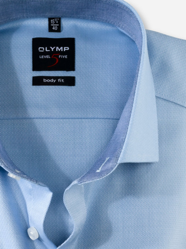 Olymp Blue Body Fit Shirt