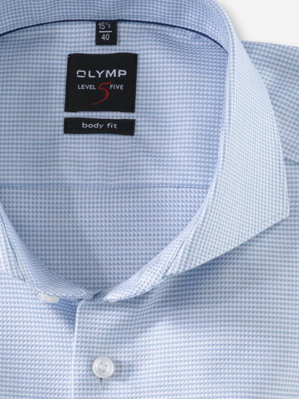 Olymp Body Fit Blue Houndstooth