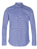 2BLIND2C Blue Stretch Slim Fit Shirt