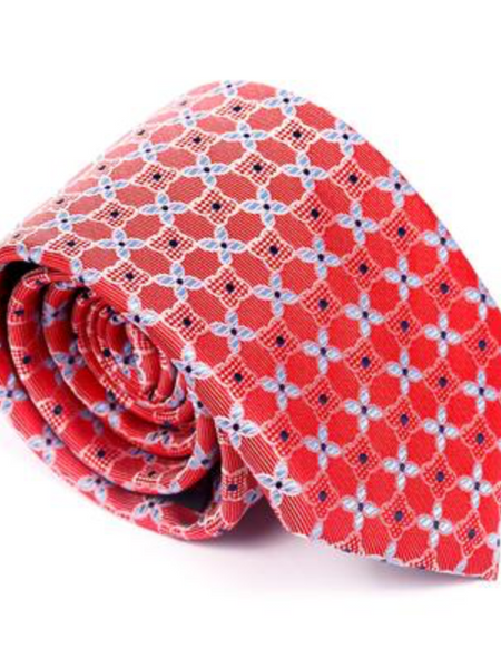 Andre Red & Blue Tie & Pocket Square