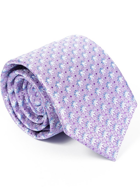Andre Lilac & Blue Tie & Pocket Square