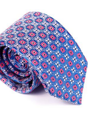 Andre Blue & Pink Tie