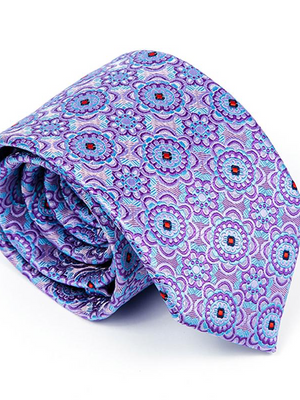 Andre Blue & Lilac Tie