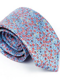 Andre Blue with Red Floral Tie