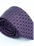 Andre Black & Purple Tie