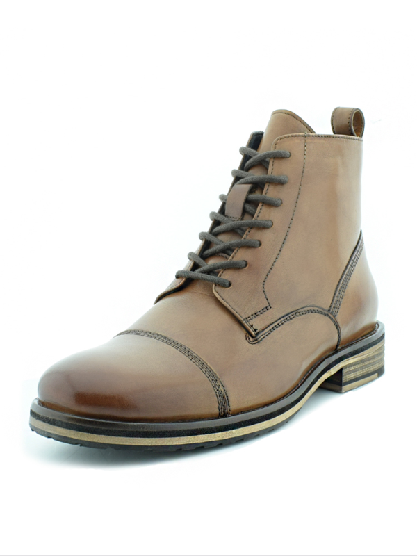 Paolo Vandini Tan Laced Boot