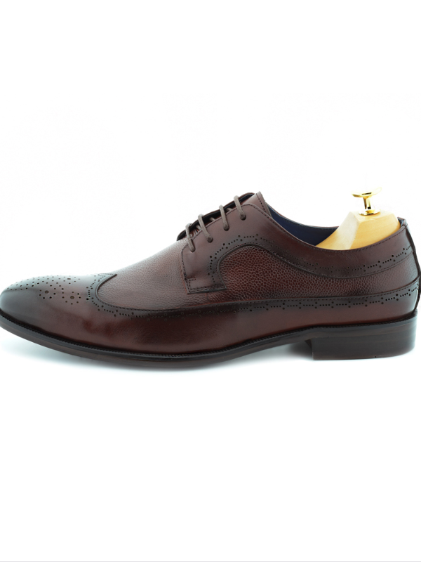 Paolo Vandini Burgundy Derby Shoes