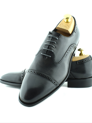 Paolo Vandini Grey Toe Cap Shoes