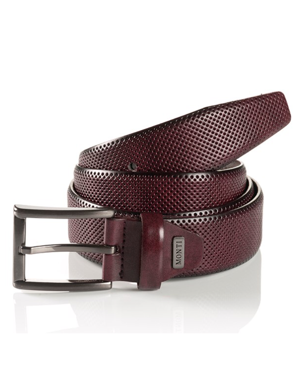 Monti Dublin Bordeaux Leather Belt