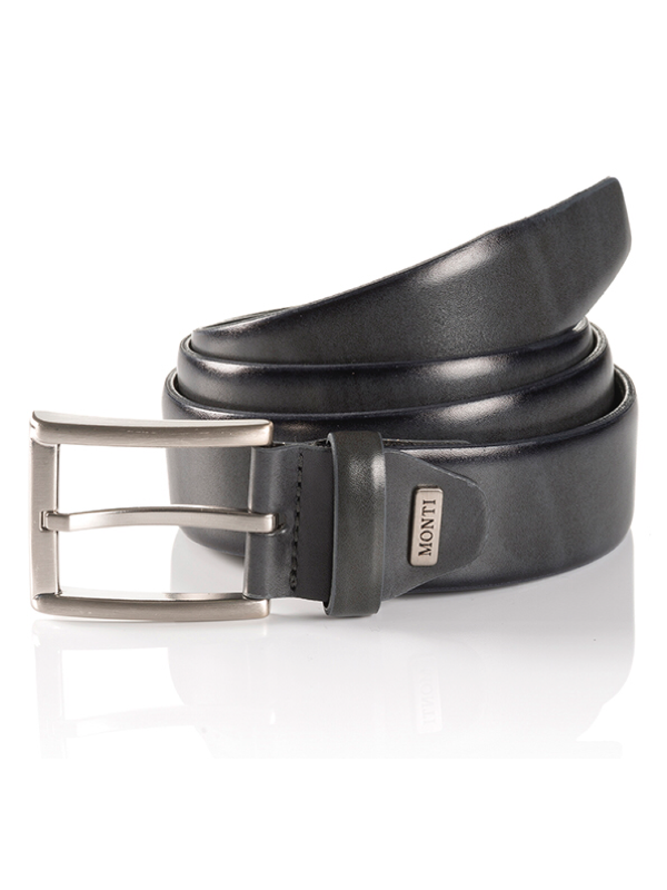 Monti London Grey Leather Belt