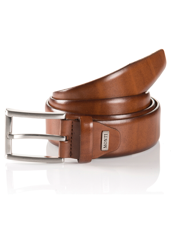 Monti London Cognac Leather Belt